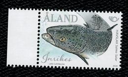 Aland 2018 Norden - Fishes  Pesci 1v Complete Set  ** MNH - Aland