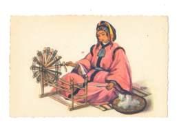 Femme Au Rouet - Maroc - 5615 - Métiers