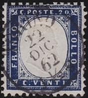 Italy .  Yvert    .      3        .    O   .   Cancelled   .    /   .   Oblitéré - 1861-78 Vittorio Emanuele II