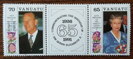 Vanuatu - YT N°864, 865 - Reine Elizabeth II / Prince Philip D'Edimbourg - 1991 - Neufs - Vanuatu (1980-...)