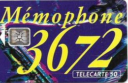 Telecarte 50 - Mémophone 3672 - Téléphones