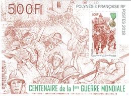 French Polynesia, World War I, 2018, MNH VF Souvenir Sheet Of 1 - French Polynesia