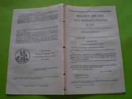 Lois:Convention France Autriche-Hongrie.Primes Pour Destruction Des Loups.Travaux Chemin De Fer Alger Oran,Ruoms,Besanço - Décrets & Lois