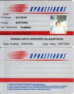 GREECE - Suburban Railway, Ticket Card(1 Month), Exp.date 29/07/05, Used - Autres Collections