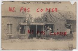 80 - Rollot - ACHAT IMMEDIAT - Rare Carte Photo D'une Boulangerie Détruite - Other Municipalities
