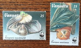 Vanuatu - YT N°999, 1000 - Protection De La Faune / Roussette - 1992 - Neufs - Vanuatu (1980-...)