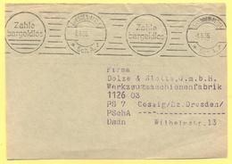 Deutsches Reich - 1936 - Flamme Dresden Zahle Bargeldlos - Fragment - Storia Postale