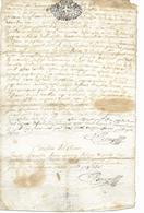 Rare 1697- Cachet De SAVOIE SIX DEN  -Manuscrit MIL SIX CENT NONANTE SEPT. ..... à Traduire  Voir 2 Scans - Cachets Généralité