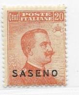 Saseno, Scott # 3 Mint Hinged Italy Stamp Overprinted, 1923 - Saseno