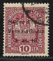 Italy Occupation Of Trieste, Scott #N4 Used Austria Stamp Overprinted, 1918 - Venezia Giulia