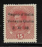 Italy Occupation Of Trieste, Scott #N6 Mint Hinged Austria Stamp Overprinted, 1918 - Venezia Giulia