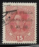 Italy Occupation Of Trieste, Scott #N6 Used Austria Stamp Overprinted, 1918 - Venezia Giulia