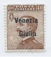 Italy Occupation Of Austria, Scott # N26 MNH Italy Stamp Overprinted Venezia Giulia, 1918, Signed - 8. WW I Occupation