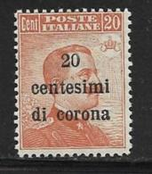 Italy Occupation Of Austria General, Scott # N68 MNH Italy Stamp Surcharged, 1919 - 8. WW I Occupation