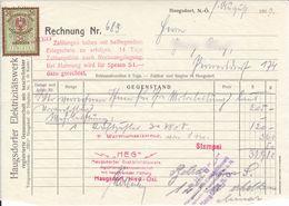 AD124 - Alte Rechung HEG Haugsdorfer Elektrizitätswerk, 1930 - Autriche