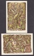 97841/ NOUVEL AN, 2 Cartes, Thème Religieux, Crèche Et Rois Mages - Nieuwjaar