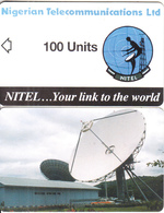 NIGERIA - Earth Station, Nigerian Telecom Ltd First Chip Issue 100 Units, Sample(no Chip, No CN) - Nigeria
