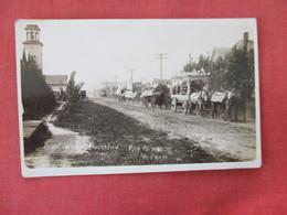 RPPC  School Wagon Procession  Holman Photo          Ref. 3083 - To Identify