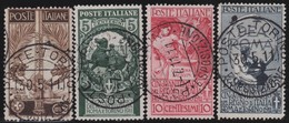 Italy .  Yvert    .      88/91          .    O   .   Cancelled   .    /   .   Oblitéré - 1900-44 Victor Emmanuel III