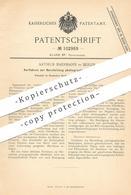 Original Patent - Arthur Baermann , Berlin , 1897 , Herstellung Photographischer Mattpapiere | Foto - Papier , Fotograf - Historical Documents