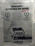 """{10402,03} Publicité """" Nissan , Rallye Des Pharaons """", Du Paris Match N° 2216 (1991)  """" En Baisse """" - Publicités"""