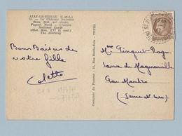 N° 681 Mazelin Seul Sur CP Azay Le Rideau 7/7/47 - Marcophilie (Lettres)