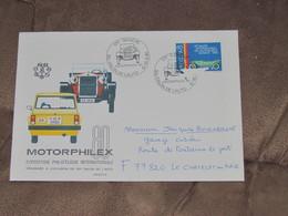 SUISSE / Motorphilex Et Salon Auto Genève - Document Enveloppe Avec Timbre De 1980 - Circulé Et Ouverte - Unclassified