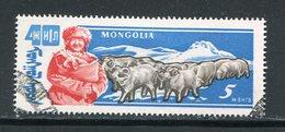 MONGOLIE- Y&T N°211- Oblitéré (béliers) - Mongolie
