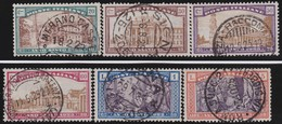 Italy .  Yvert    .     163/168         .    O   .   Cancelled   .    /   .   Oblitéré - 1900-44 Victor Emmanuel III