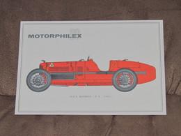 SUISSE / Motorphilex Et Salon Auto Genève - Document Carte Postale écrit - ALFA ROMEO P2 De 1921 - Unclassified