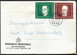 (1805) Brief Aus 5439 AILERTCHEN, Vom Jan. 1969, Blockmarken, De Gasperi, Churchill Kriegsminister Von England, Nr. 555 - Briefe U. Dokumente