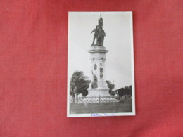 RPPC   Philippines Statue Manila Smaller Size 3 1/4 X 5 1/4-- Black Paper Residue On Back    Ref. 3083 - Philippines