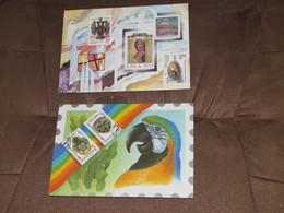 RUSSIE - CCCP / 2 Très Beaux Documents Enveloppes Imprimés Avec Timbres Et Fond - 1989 Et 1994 - Russia & USSR