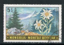 MONGOLIE- Y&T N°487- Oblitéré (fleurs) - Mongolie