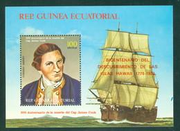 Eq Guinea 511 Captain James Cook, Muerte 200 Yrs, Mint Never Hinged - Equatorial Guinea