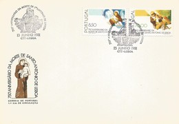PORTUGAL FDC 1981   750th Anniversary Of The Death Of St. Anthony Of Lisbon - FDC