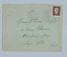 N° 692 Marianne De Dulac Seul Sur Enveloppe TAD Limoge RP 5/5/45 Vers Paris - Marcophilie (Lettres)