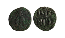 """REDUCED Price / Class C ANONYMOUS Follis Of Christ """"King Of Kings"""" / Time Of Michael IV (1034-1041) AD. / Constantinople - Bizantinas"""