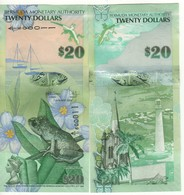 BERMUDA 20 Dollars  Very Attracitve  Frog  P60b New Signature Dated 1.1.2009 (2018) Serial A/1 UNC - Bermudes