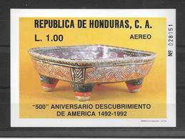 HONDURAS. AÑO 1988. 500 ANIVERSARIO DEL DEL DESCUBRIMIENTO DE AMEERICA Michel: Bl 42, Yvert: BF 39 - Honduras