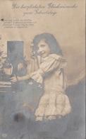 Hübsches Mädchen Beim Telefonieren - Glückwunschkarte Gel.192?, Gute Erhaltung - Szenen & Landschaften
