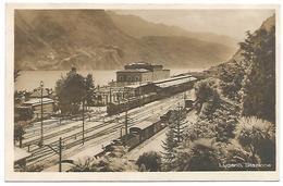 CARTOLINA FOTOGRAFICA DI LUGANO STAZIONE , 1926 . - TI Ticino
