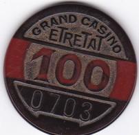 JETONS DE CASINO //GRAND CASINO  ETRETAT 100  N0 0793 - Casino