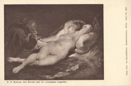 P.P. Rubens DER EREMIT UND DIE SCHLAFENDE ANGELIKA (Gem.-Gal. Im Kunsthist. Staatsmuseum Wien)) - Ungel., Gute Erhaltung - Malerei & Gemälde