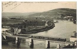 Puy L'Eveque: Les Deux Ponts Et La Plaine De Courbenac, Train , Locomotive - France