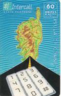 CARTE-PREPAYEE-60U-INTERCALL-31/12/2000-ISULA DI CORSICA-V°Code Fond Fond Clair Haut- Sup Econo Droit/ Gros-UTILIS E-TBE - Autres Prépayées