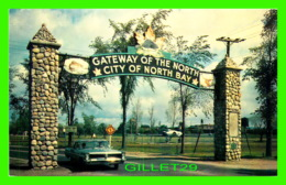 NORTH BAY, ONTARIO - GATEWAY OF THE NORTH - ANIMATED WITH OLD CAR - PRESTON R. QUIRT - - North Bay