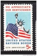 USA, MNH, Drapeau, Flag, Statue De La Liberté, Liberty Statue, Savings Bonds, Banque, Bank - Timbres