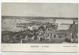 Bengasi - Il Porto 1934 - Animata - Libia