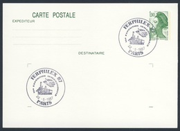 France Rep. Française 1987 Card / Karte / Carte - FERPHILEX 87, 14e Exposition Internationale, Paris / Bahnausstellung - Treinen